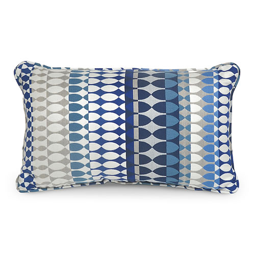 Quito Indigo Indoor / Outdoor Lumbar Pillow